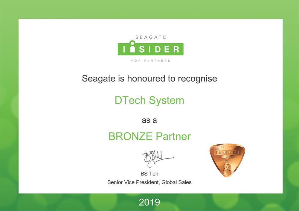 seagate partnership certificate