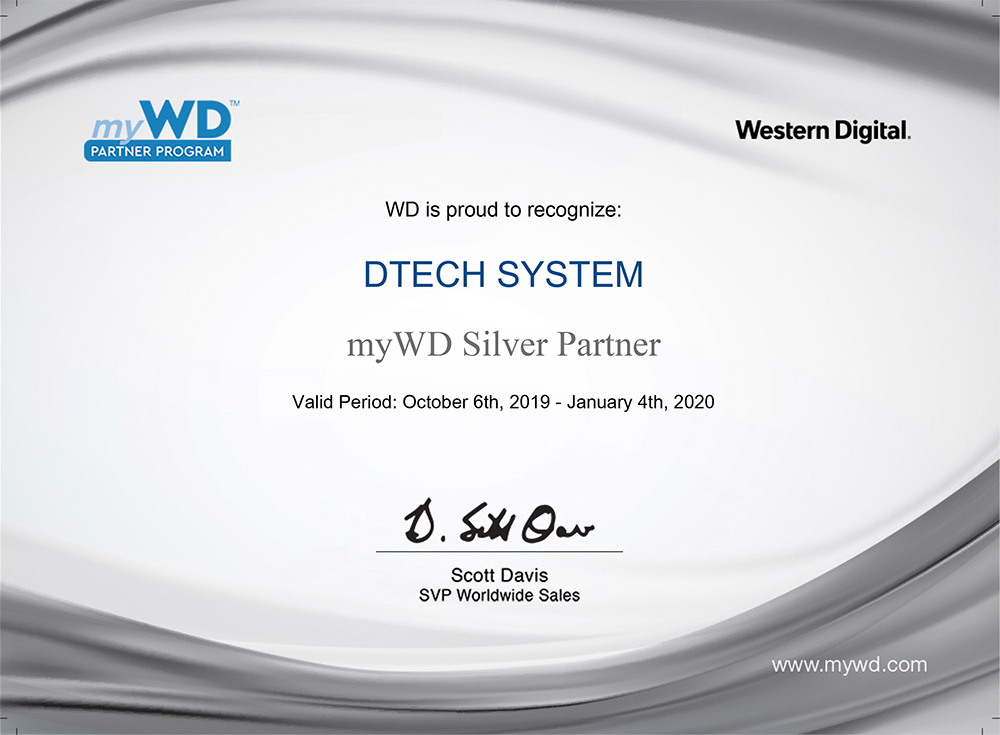 wd partnership certificate
